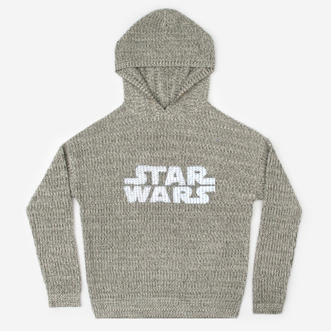Star Wars Black Speckled Knit Hoodie