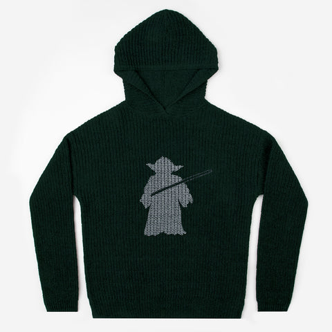 Pre-Order Star Wars Yoda Hunter Green Knit Hoodie