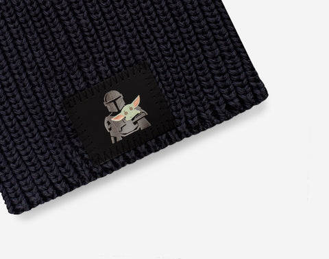 Pre-Order Star Wars Mandalorian and The Child Kids Dark Charcoal Lightweight Beanie