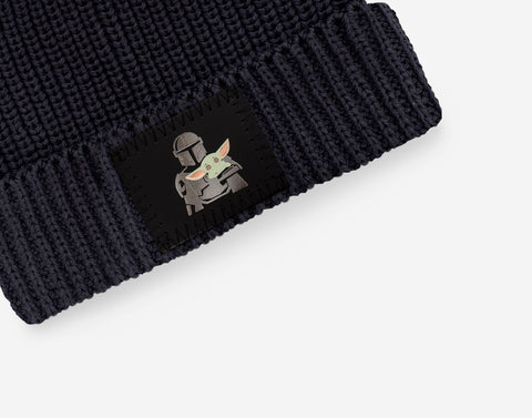 Pre-Order Star Wars Mandalorian and The Child Adult Dark Charcoal Lightweight Beanie