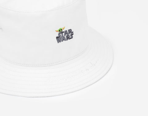 Star Wars and The Child White Bucket Hat