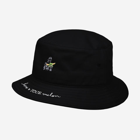 Star Wars Mandalorian and The Child Black Kids Bucket Hat