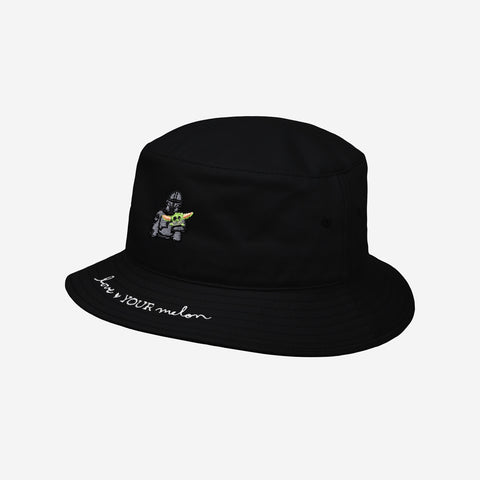 Star Wars Mandalorian and The Child Black Baby Bucket Hat