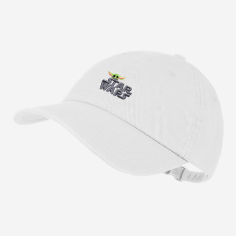 Star Wars and The Child White Denim Washed Cap