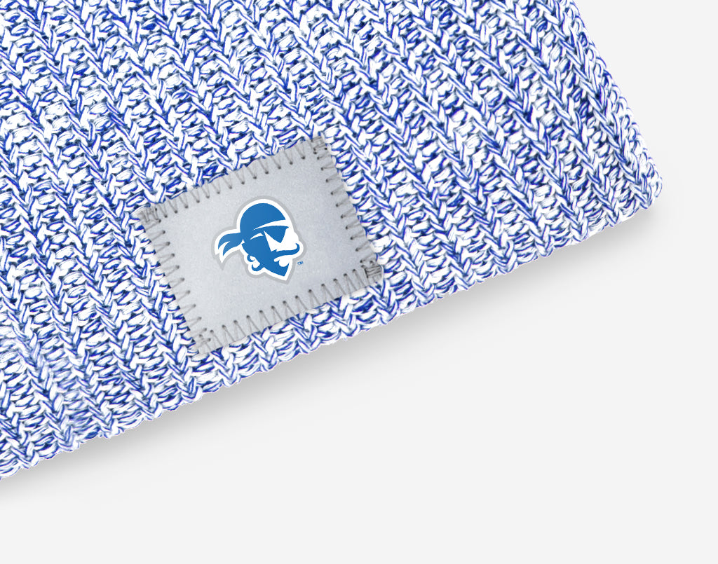 Seton Hall Pirates White and Royal Blue Speckled Beanie