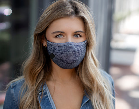 Adult Smoke Speckled Cotton Seamless 3D Knit Face Mask