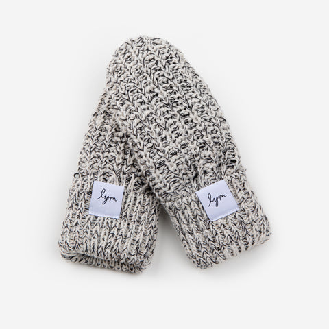 Kids Black Speckled Mittens-Accessory-Love Your Melon