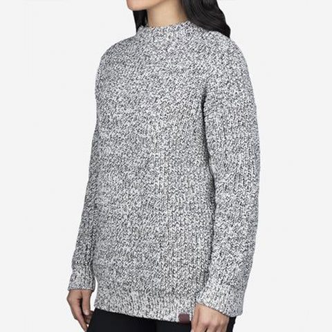 Black Speckled Knit Sweater