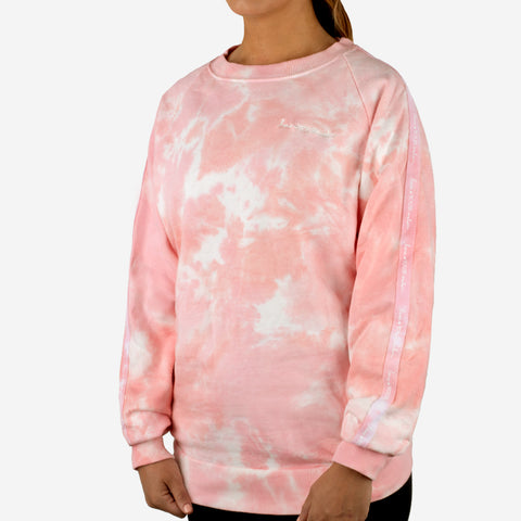 Women's Bubble Gum Tie Dye Crew Sweatshirt