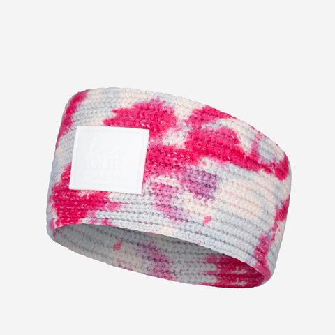 Pink and Blue Tie Dye Knit Headband