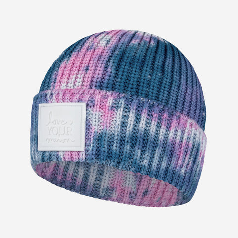 Cotton Candy Tie Dye Lightweight Cuffed Beanie