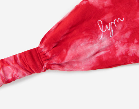 Red Tie Dye Headband