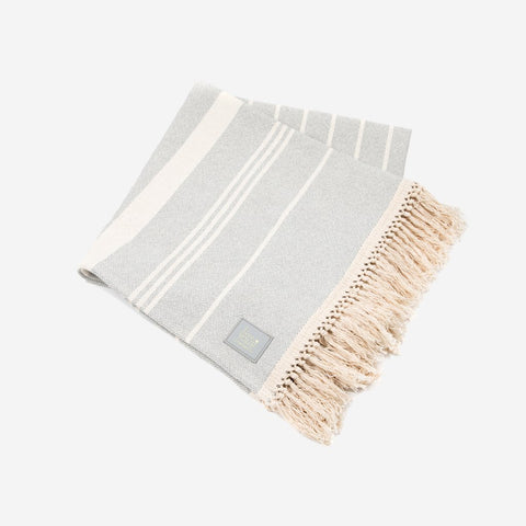 Gray Striped Throw-Accessory-Love Your Melon