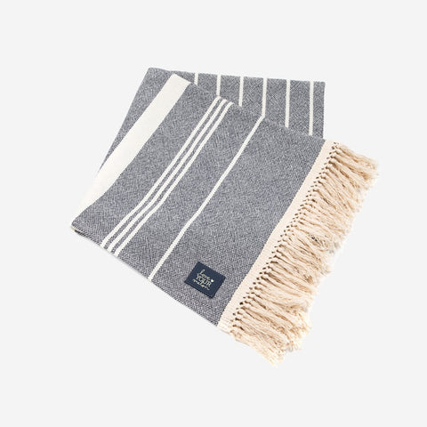 Navy Striped Throw-Accessory-Love Your Melon