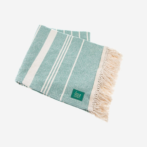 Sage Green Striped Throw-Accessory-Love Your Melon