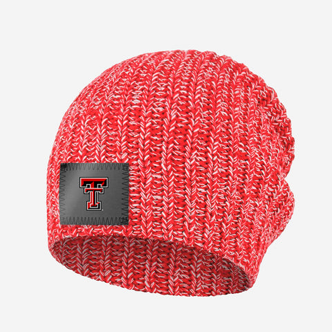 Texas Tech Red Raiders Red and White Speckled Beanie