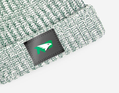 North Dakota Fighting Hawks Hunter Speckled Pom Beanie (Black Pom)