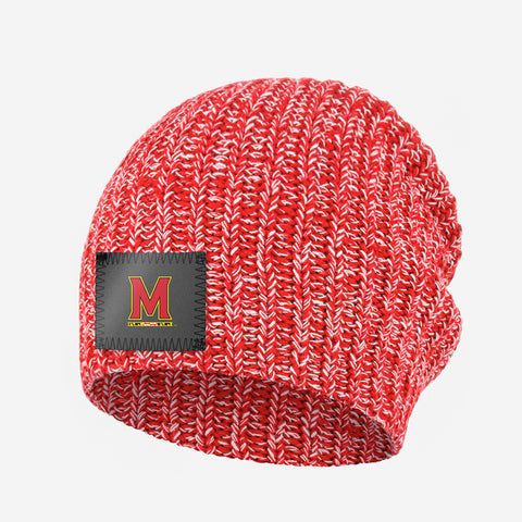 Maryland Terrapins Red and White Speckled Beanie