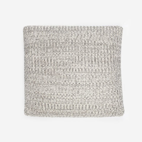 Black Speckled Knit Signature Throw Pillow
