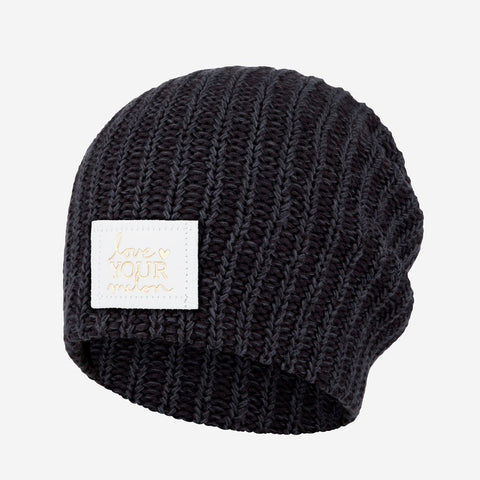 Smoke Speckled Beanie (White Gold Foil Patch)-Beanie-Love Your Melon