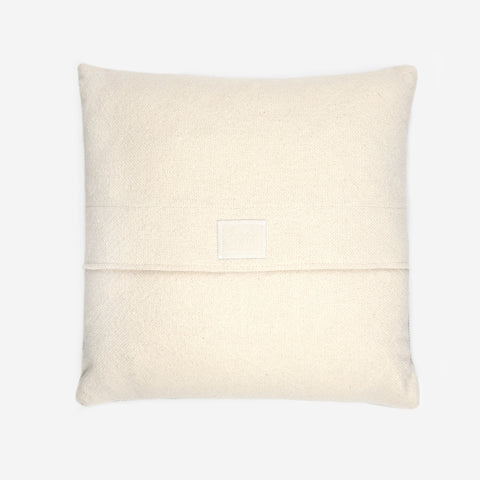 Natural and Gray Colorblocked Woven Pillow