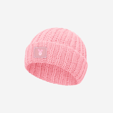 Piglet Light Pink Cuffed Baby Beanie