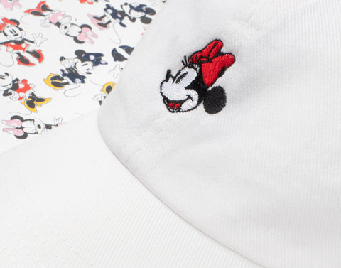 Minnie Mouse White Denim Washed Cap
