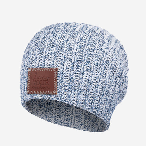 White and Navy Speckled Beanie-Beanie-Love Your Melon ... a6c179ef38e
