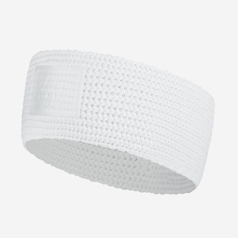 White Recycled Plastic Knit Headband