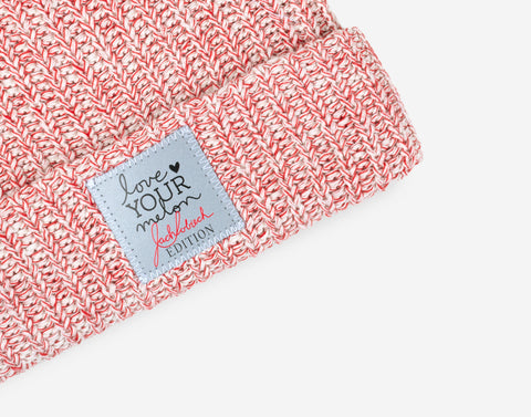 Zach Sobiech Edition Red Speckled Pom Beanie-Beanie-Love Your Melon