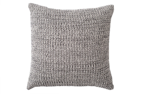Accessory - Black Speckled Knit Throw Pillow