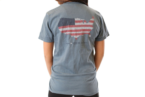 Apparel - Ocean Gray America Knit Tee