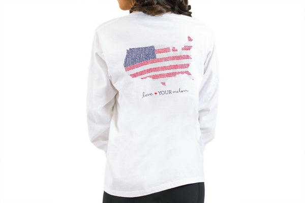 Apparel - White America Knit Long Sleeve