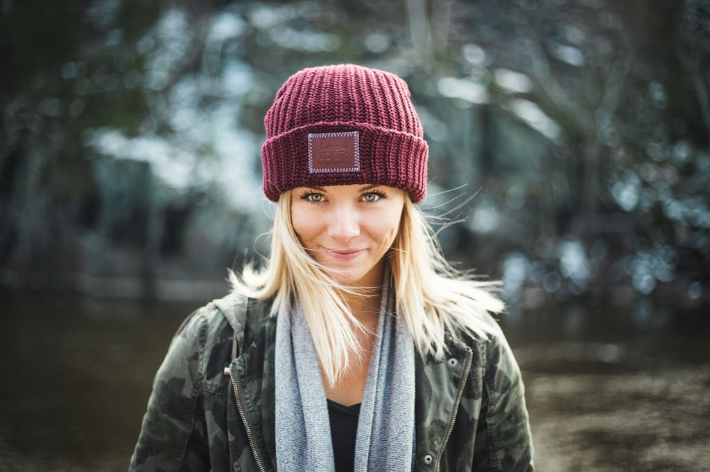Love Your Melon Burgundy Cuffed Beanie a58b0d7af33