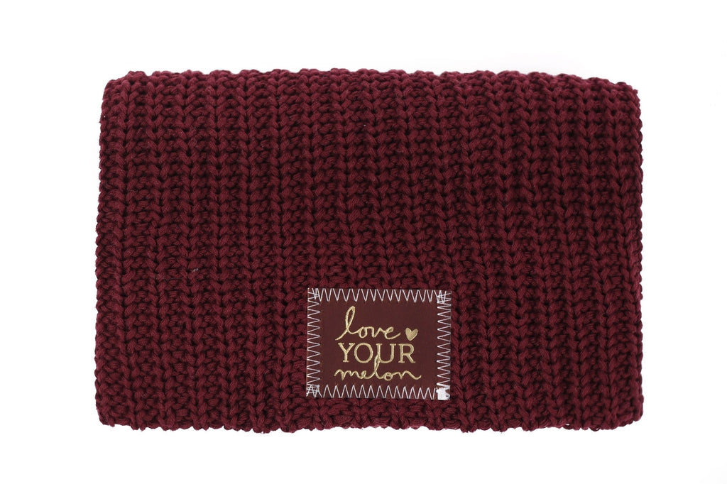 99616ff62 Burgundy Gold Foil Beanie (Red Maple Patch) - Love Your Melon