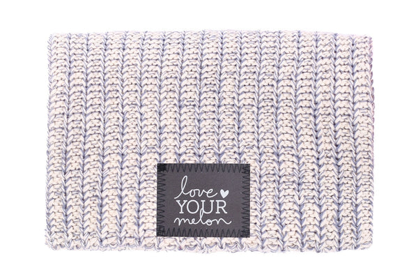 Beanie - Gray Speckled Reflective Patch Beanie