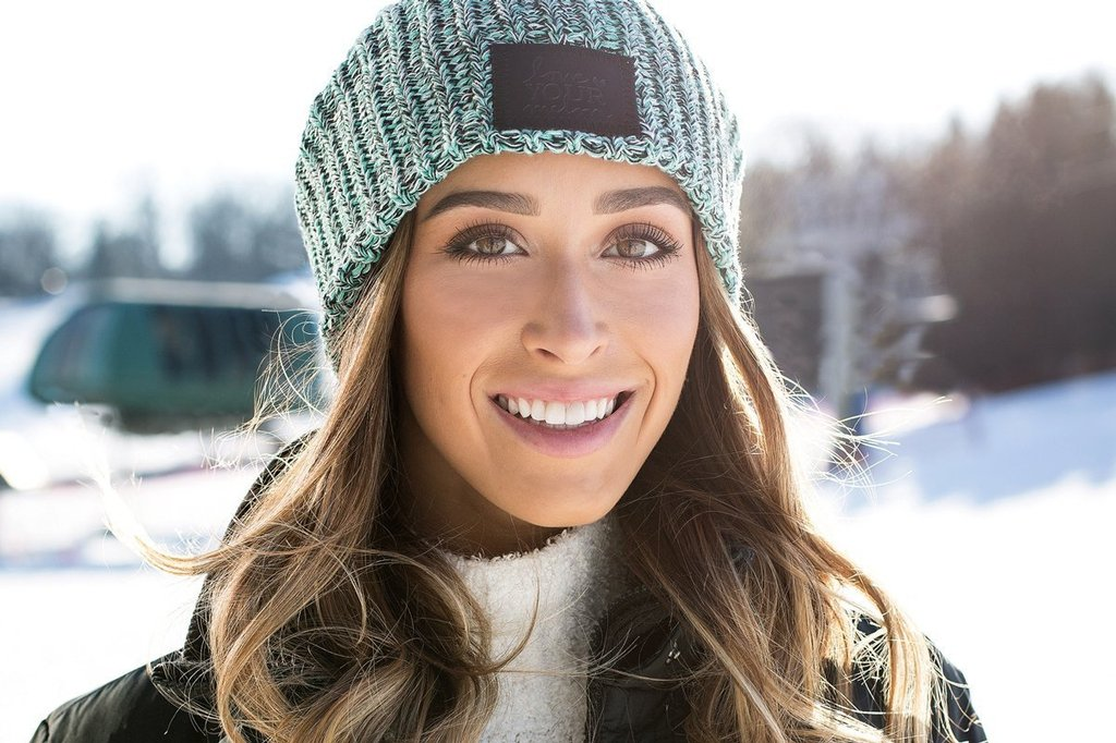 Mint Chip Beanie (Black Leather Patch) Wholesale