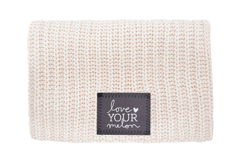 Beanie - Natural Reflective Patch Beanie