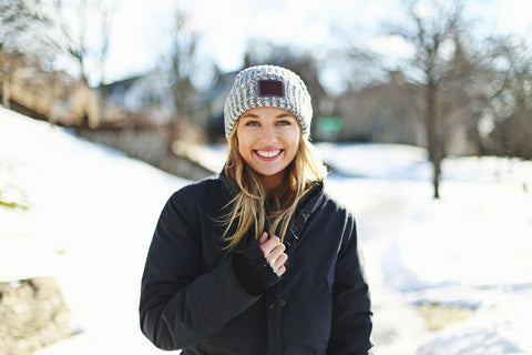 Navy Speckled Cuffed Beanie-Beanie-Love Your Melon
