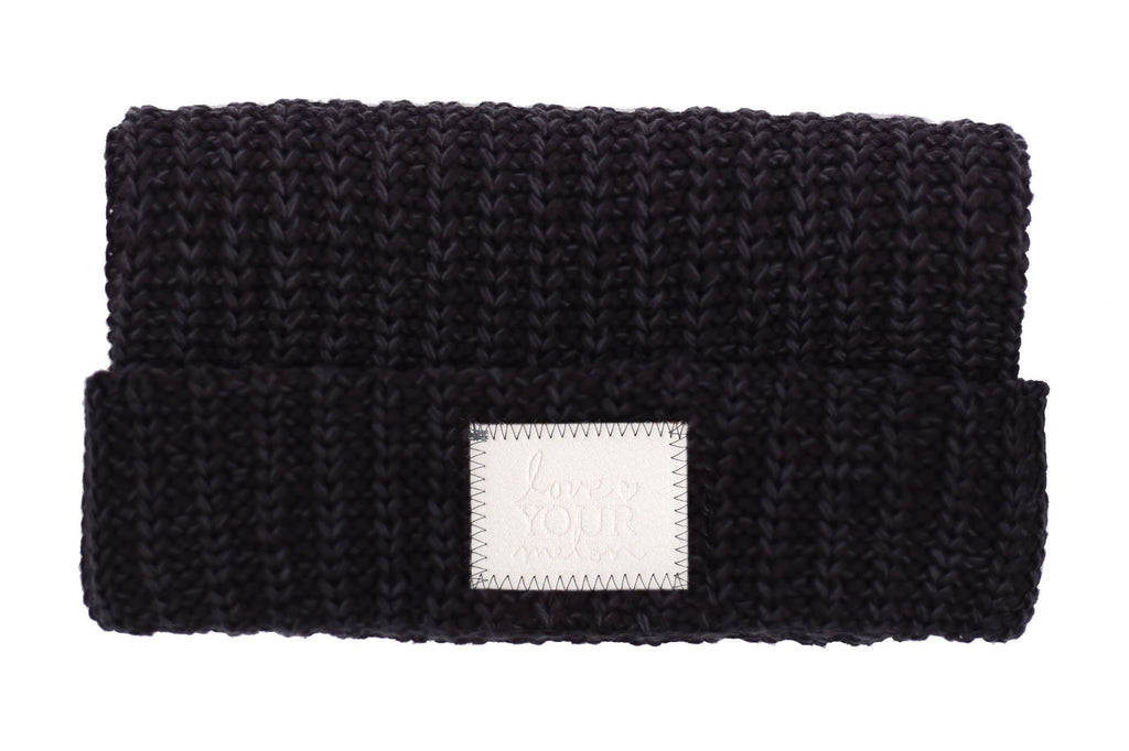 ... Beanie - Smoke Speckled Cuffed Beanie (Faux Leather Patch) differently  e2dd4 337c2 ... 4d44155030d