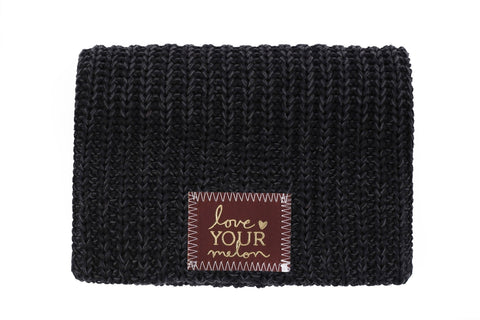 Beanie - Smoke Speckled Gold Foil Beanie (Red Maple Patch)