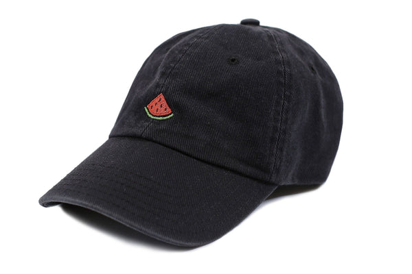 Cap - Black Washed Denim Melon Cap