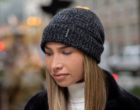 Smoke Speckled Cashmere Beanie-Beanie-Love Your Melon