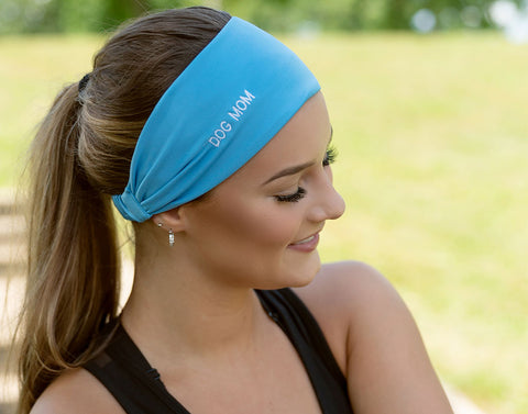 Blue Dog Mom Athletic Headband