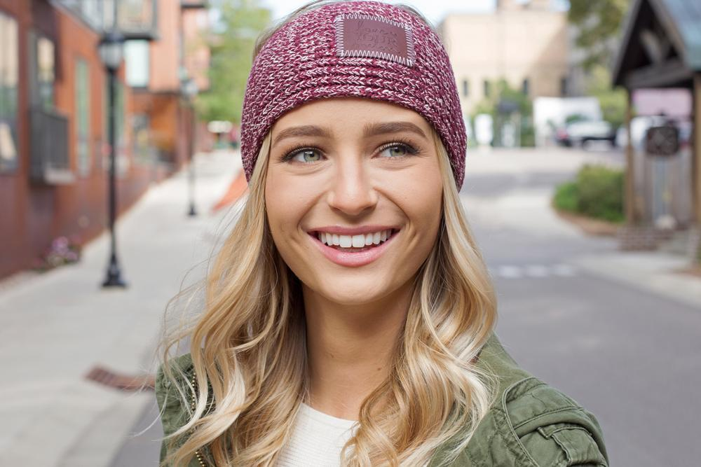 f8373a7dcbb Love Your Melon Burgundy and Natural Speckled Knit Headband