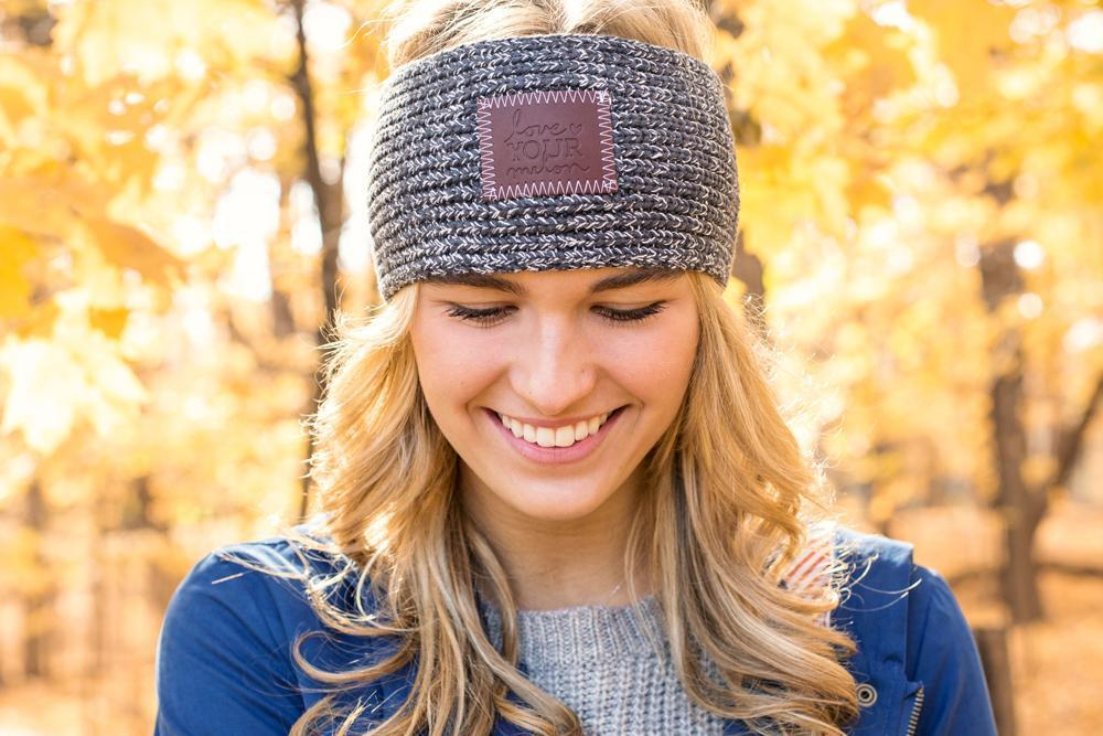 1a0525bcd66 Love Your Melon Charcoal and White Speckled Knit Headband