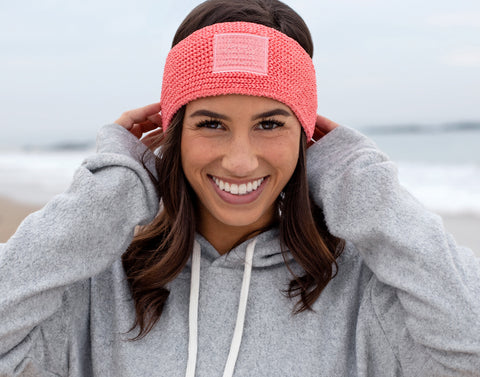 Salmon Pink Revitalize Knit Headband-Beanie-Love Your Melon