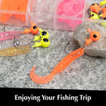 Wrap-A-Loc Soft Fishing Lures - Original Grub Baits for bass - Artificial Lure Baits for Salt & Freshwater - Fishing Kit with Jig Heads - Real Life Fishing Baits - Moving Dynamic Lures