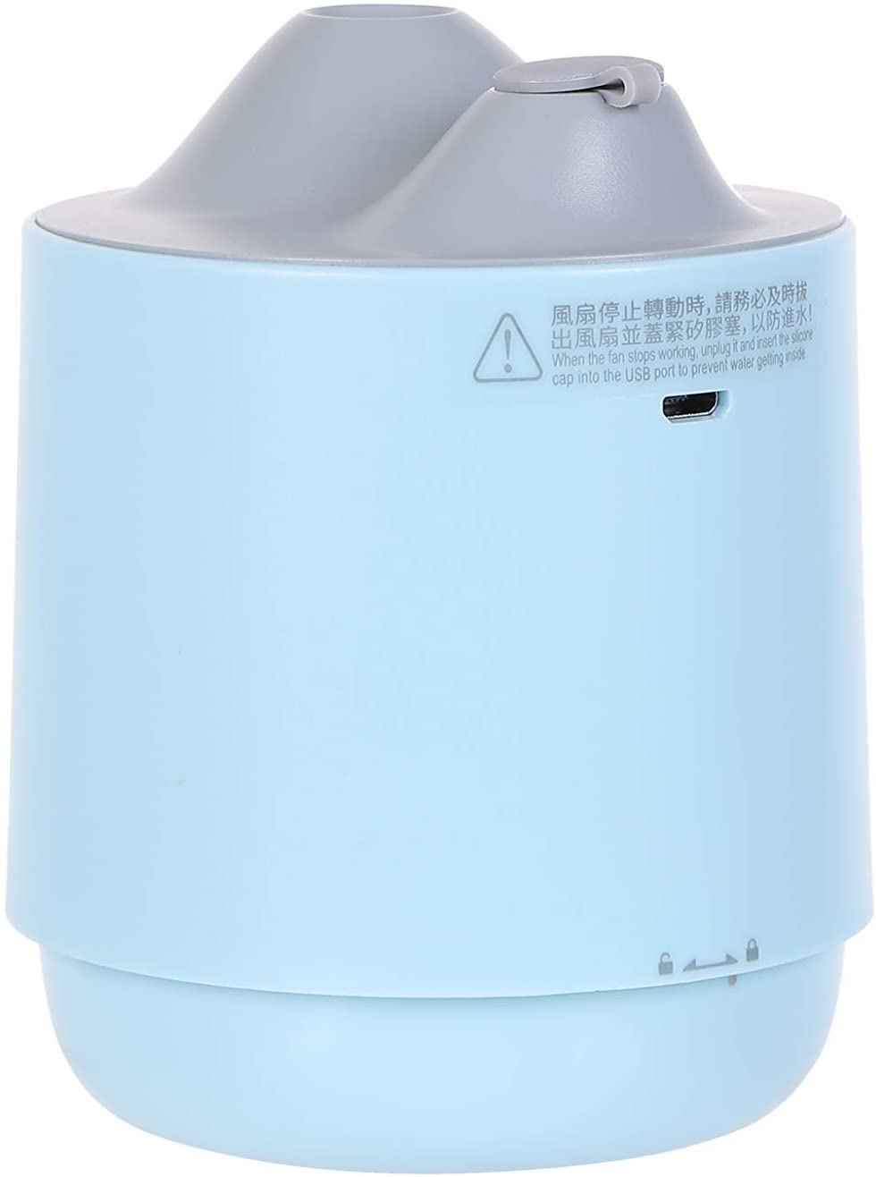 Humidifier 2 in 1 Miniso  for bedroom with built in fan - ultrasonic, cool, mist small humidifier - ideal for baby room humidifier