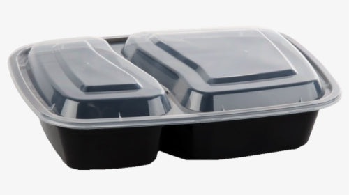 Container - 2 Compartments Rectangle Microwavable Container Set
